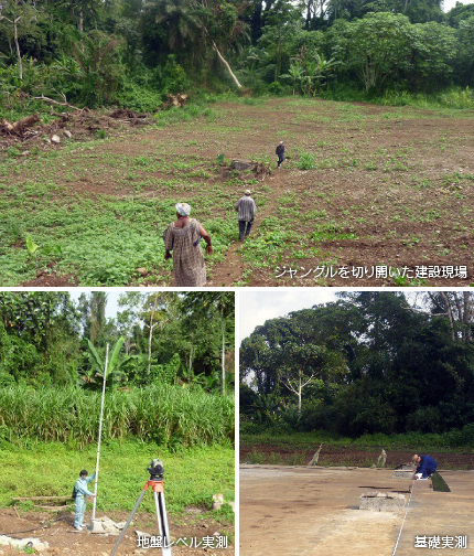 ジャングルを切り開いた建設現場・事案レベル実測・基礎実測